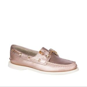 Sperrys Rose Gold boat shoes